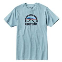 6b9a9fc6b Patagonia Arched Logo Tee ($39) ❤ liked on Polyvore featuring tops, t-
