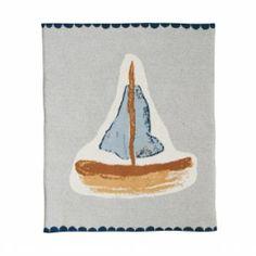wie wir wohnen - Kuschlige Baumwolldecke Sail away von House of Rym Sail Away, Bookends, Paradise, Textiles, Sailors, Blanket, Kids, Boats, Anna