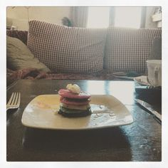 #rainbow #pancakes #dessert #bakedgood