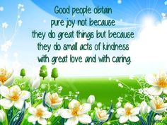 Joy quote via My Cheery Corner page on Facebook