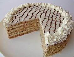 Esterhazy Torte, Cake Cookies, Cupcakes, Hungarian Cake, Cake Pops, Tiramisu, Sausage, Cake Decorating, Deserts