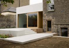 We love how the materials for the extension extend into the garden. Really connects everything.  www.methodstudio.london