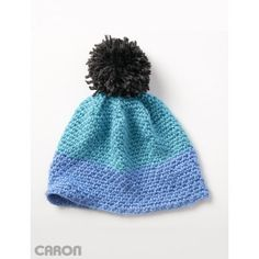 Color Dipper Hat - free crochet pattern by Caron for Yarnspirations. Child years, and adult size. Crochet Hat Pattern Kids, Fingerless Gloves Crochet Pattern, Knitted Hats, Crochet Patterns, Hat Patterns, Crochet Ideas, Crochet Cable, All Free Crochet, Crochet For Kids