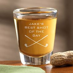 Best Shot Of The Day Personalized Golf Shot Glass - Golf Gifts