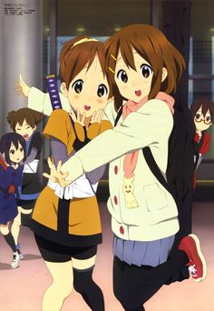 (back) Azusa & Jun & Nodoka, (front) Ui & Yui | K-On! #anime