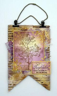 New Stampendous Tree Poem and Inspiration Sentiment Mixed Media Collage, Mixed Media Canvas, Paper Art, Paper Crafts, Artist Trading Cards, Home And Deco, Art Journal Inspiration, Tag Art, Altered Art