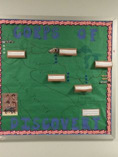 This was the bulletin board I created for my Social Studies class.  The theme is a trivia race.