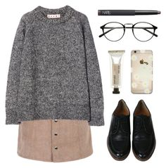 """""""Amber"""" by soym on Polyvore featuring Marni, Meraki and NARS Cosmetics"""