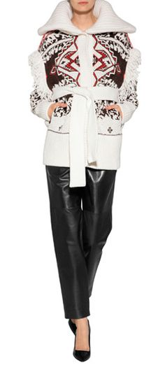 3bc36b3e6209 Jumper. A bold folkloric pattern informs this bohemian-inspired cardigan  from Emilio Pucci  Stylebop Wool