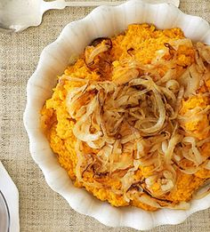 Mashed Sweet Potatoes With Caramelized Onions, Brie And Sage Recipe ...
