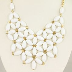 ON SALE White Bubble Statement Necklace,Statement Bubble Necklace,Chunky Necklace,Cluster Necklace-BN120