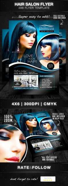 Hair Salons Flyer Template Flyer template, Salons and Template