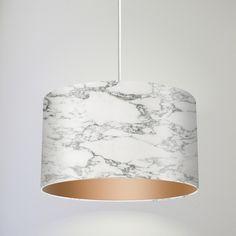 Hängelampen - Pendelleuchte HANG LOOSE / marmor/kupfer - ein Designerstück von DROOM bei DaWanda