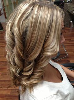 Blonde highlights and lowlights, fall hair. i think id like the whole tone to be lighter though