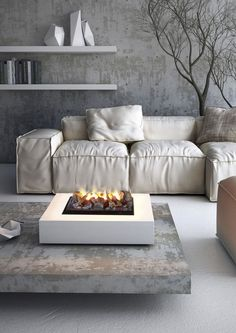 Electric fireplace / central / open hearth / contemporary RIGOLETTO ACQUA MAISONFIRE