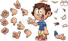 Vector Art : Cartoon boy