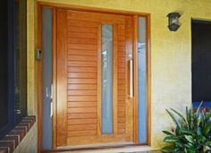 Como solid Western Red Cedar pivot door, white translucent laminated glass and…