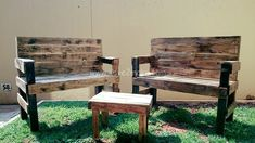A vibrant, colorful yard is what everyone wishes to have. If you wish to decorate a small garden or yard at your house then an awesome idea would to make use of pallet wood pieces to make a table and a pair of chairs. The defined structure of the chairs and the table makes the place look startling.