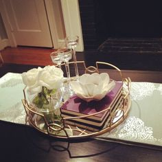 Finally styled this gorgeous tray. #fabfound