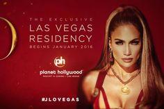 Jennifer Lopez en résidence à l'Axis - Planet Hollywood Resort & Casino - à partir du 20 janvier prochain. #jlovegas #planethollywood #lasvegas