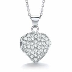 J-Jaz Silver Heart Locket | eternity