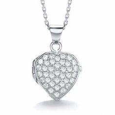 J-Jaz Silver Heart Locket | eternity