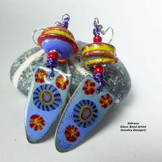 Handmade Lampwork Beads & Glass Jewelry, Muranoglasschmuck, handgefertigte Glasperlen, Schmuck aus Glas Ohrring