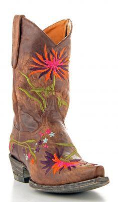 Womens Old Gringo Ellie Zipper Volcano Boots Brown #L630-2 via @Allens Boots