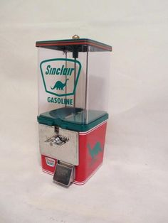 SINCLAIR DINO gasoline gas pump vintage gumball machine candy machine coin op #Kometmachine