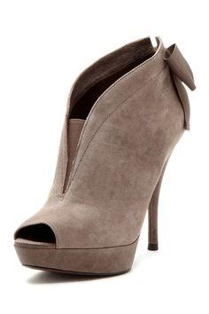 Vera wang Shoe Sale! Royce Peep Toe High Heel ...love the bow!