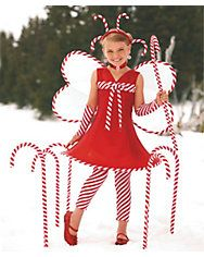 candy cane fairy girls costume