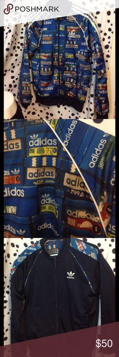 Adidas sweeter jacket reversible shoe box blue szs Very good condition Adidas Jackets & Coats Performance Jackets