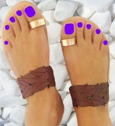 Danais Brown - flat sandal Greek Sandals, Flat Sandals, Shoes Sandals, Brown Flats, Beauty, Beautiful