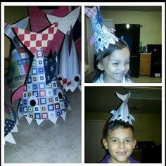 DIY shark party hat
