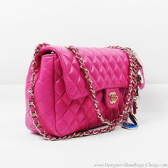 Gorgeous quilted Chanel 2.55 flap bag in pink.  I love pink.  Get in my closet now!
