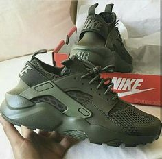 Nike Huarache Sneakers nike, shoes, and green Army Green Nikes, Green Nike Shoes, Nike Green, Olive Green Shoes, Olive Green Sneakers, Sneaker Heels, Nike Air Huarache, Girls Sneakers, Sneakers Nike