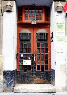Art Nouveau door in Budapest by elinor04, via Flickr