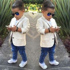29 super Ideas for fashion kids boy swag blazers Little Boy Outfits, Toddler Outfits, Baby Boy Outfits, Baby Boy Dress, Baby Boy Swag, Toddler Boy Fashion, Little Boy Fashion, Fashion Kids, Outfits Niños