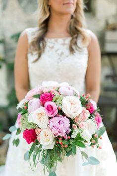 Romantic Ranch Wedding in California - Rustic Wedding Chic Wedding Bells, Wedding Reception, Rustic Wedding, Wedding Ideas, Mason Jar Chandelier, Pink Wedding Theme, Sweetheart Table, Floral Centerpieces, Rustic Chic