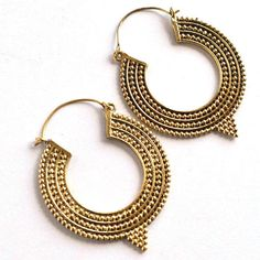 1 Pair Gold Plated Hoop Earring,Pretty Earring,Women Unique Earring#463 #dhorgems #Hoop