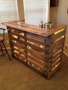 Wood Pallet Bar Más