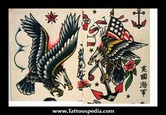 """The """"wings"""" part of my foot tattoo. I love American tradition eagle tattoos!"""