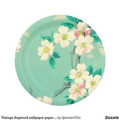 Meaning Pink Roses Paper Plate