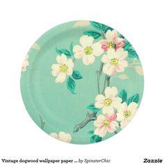 Vintage dogwood wallpaper paper plates  sc 1 st  Pinterest & Meaning Pink Roses Paper Plate