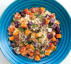 Couscous with Roasted Vegetables - Annabel Langbein – Recipes Roasted Vegetable Couscous, Roasted Vegetable Recipes, Roasted Root Vegetables, Vegetable Dishes, Recipes With Ham And Vegetables, Easy Salad Recipes, Easy Salads, Vegetarian Recipes, Dinner Recipes