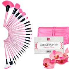 Best Professional Makeup Brushes Set - 24 Pc Pink Cosmetic Foundation Make up Kit - Beauty Blending for Powder & Cream - Bronzer Concealer Contour Brush - Beauty Bon. 24 PIECE PROFESSIONAL MAKEUP BRUSH SET: Beauty Bon® brings you an amazing 24 Piece Pink Makeup Brush Set that is of professional quality. From blush brushes to contouring brushes, you will find all you need in this diverse set!. SOFT BRISTLES THAT STAY: Beauty Bon® makeup brushes are the best because we make our brushes with...