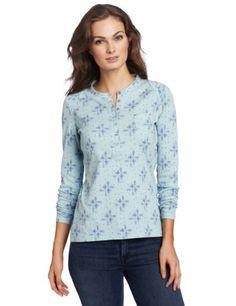 Dickies Women's Rib Henley Print Shirt Henleys, Printed Shirts, Tunic Tops, Fancy, Free Shipping, Hot, Stuff To Buy, Clothes, Style