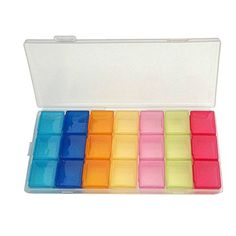 Bathroom Organization: C-Pioneer 7 Day AM PM Pill Organizer Plastic Vitamins…