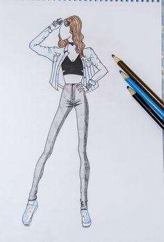 #ootd #FashionIllustration by #LilyFashionSketch #Fashion #FallFashion