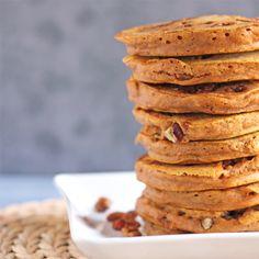 Pumpkin Pie Praline Pancakes by adashofcinnamon #Pancakes #Pumpkin #Praline